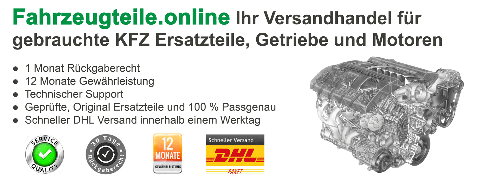Fahrzeugteile Online Banner #2